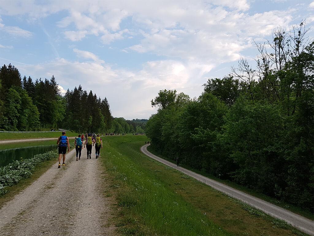 Megamarsch Vorbereitung Teil 2:Von München nach Wolfrathausen