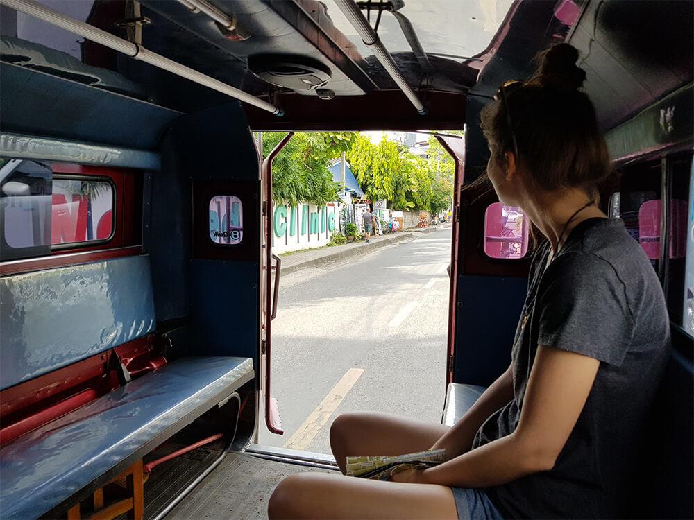 Tuktuk fahren in Thailand